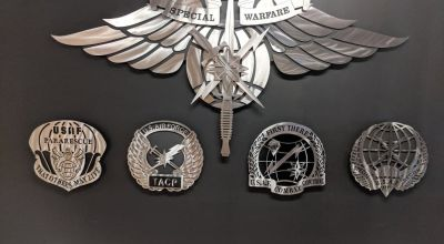 The new Special Warfare badges. (Image courtesy of Air Force Special Operations Command).