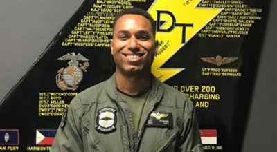 Capt. Jahmar Resilard died on Dec. 6, 2018 after ejecting from his F/A-18 Hornet. USMC photo.