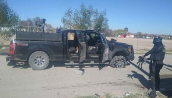 Mexican drug cartel shootout on the US border leaves 21 dead