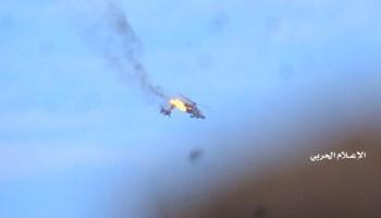Watch: Yemeni rebels shoot down an Apache gunship