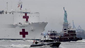 The USNS Comfort sails into harm's way