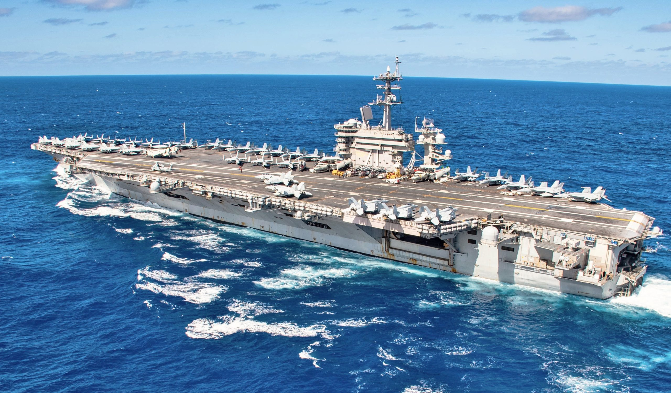 The aircraft carrier USS Theodore Roosevelt CVN 71 transits the Pacific Ocean Jan  25 2020 scaled jpg?fit=2560,1501&ssl=1.