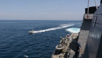 Iranian gunboats harass US Navy ships in the Persian Gulf