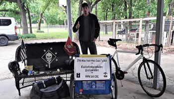 Raider Ride: Biking 2,700 miles across the country for his brothers