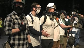 Protests in Portland continue as a 'Wall of Vets' joins in