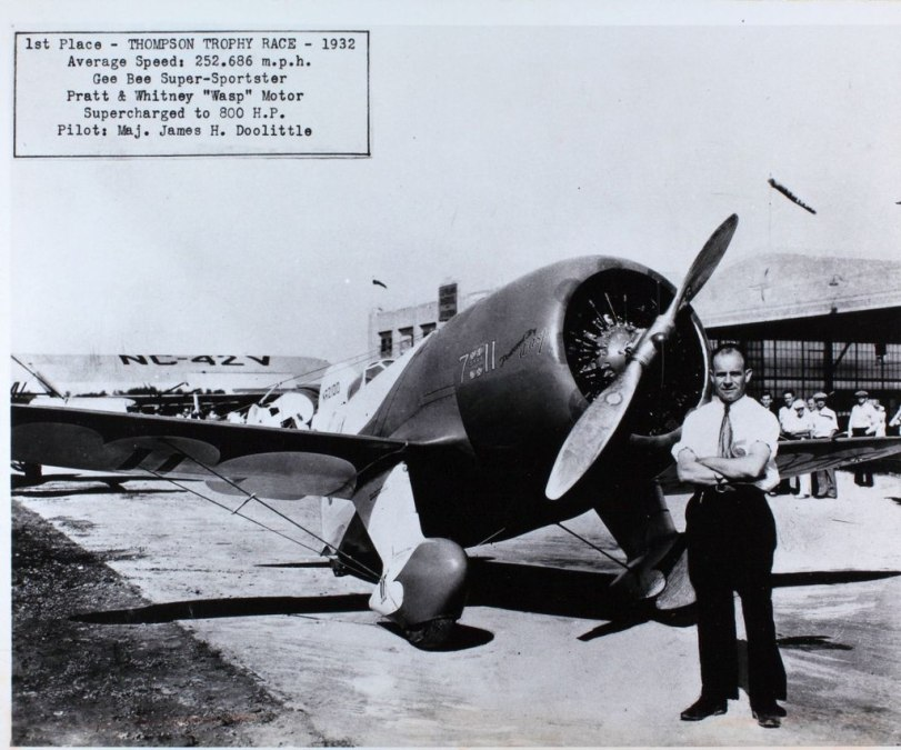 Doolittle with a plane prior to WWII