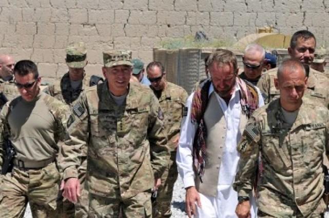 General Patraeus in Afghanistan in 2011