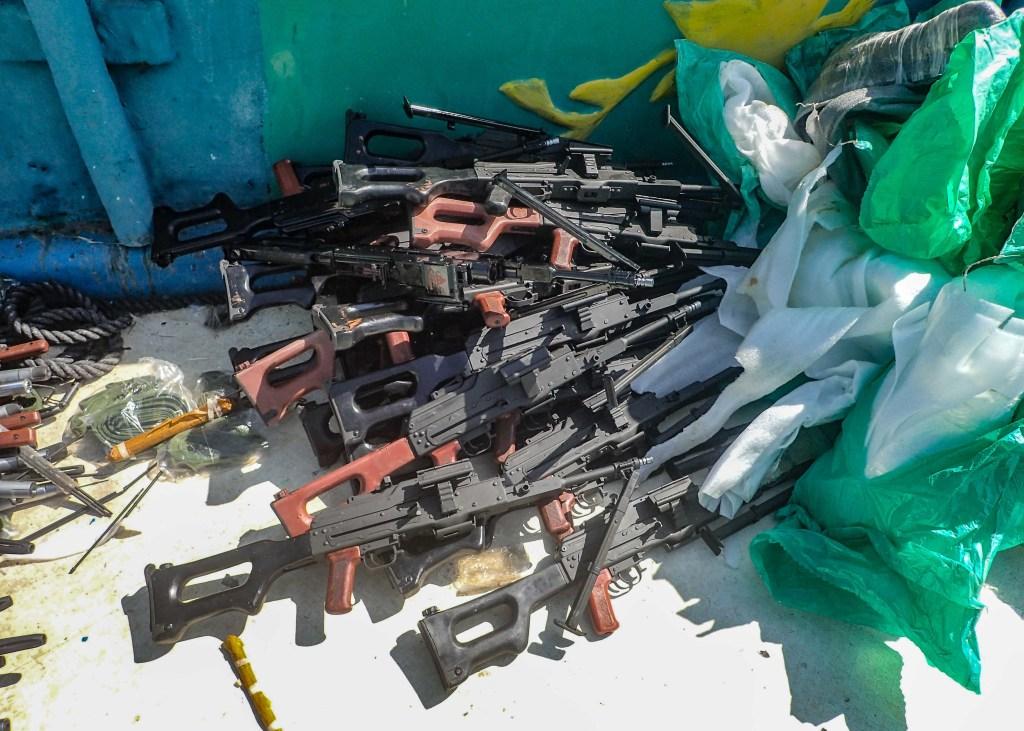 Russian weapons cache seized in the Arabian Sea