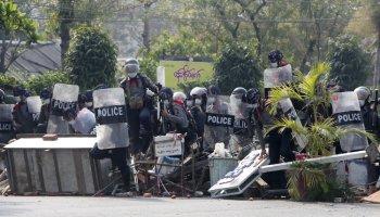 Myanmar Security Forces Open Fire on Crowds, Scores Dead