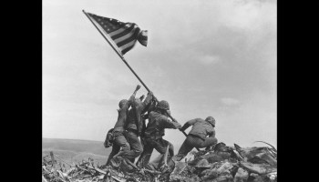 February 23, 1945, Marines Raise the Flag on Mount Suribachi