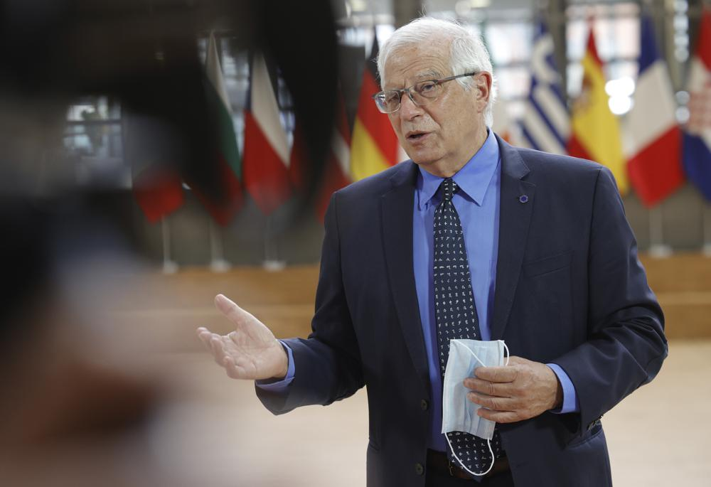 Josep Borrell, the EU's foreign policy chief said that European troops have to withdraw along with American ones from Afghanistan.