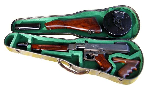 The Thompson Submachine Gun, or Tommy Gun, a WWII and Gangster Icon