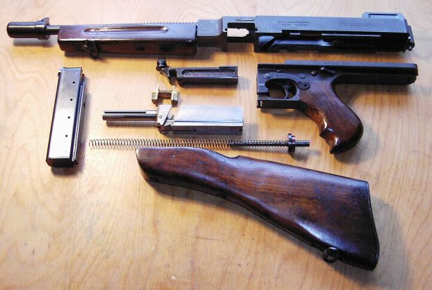 The Thompson submachine gun, or tommy gun. This is the M1928A1 variant.