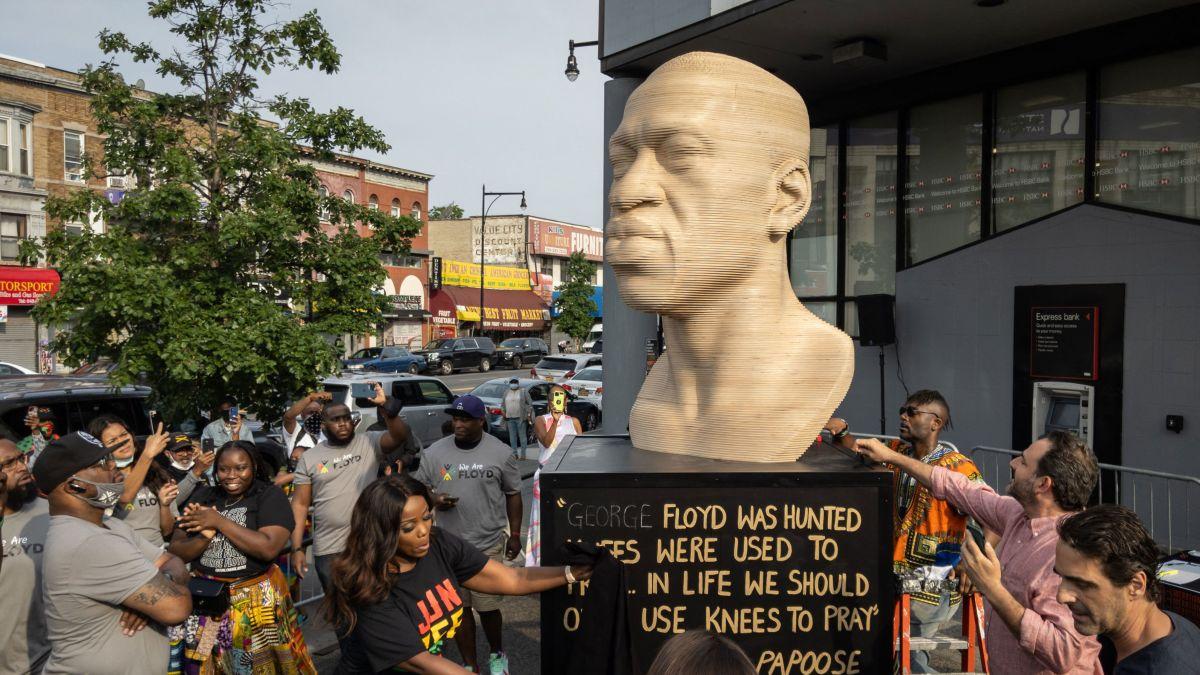 George Floyd statue