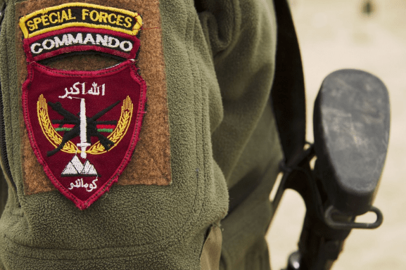 Afghan commando patch. These commandos will now train in Turkey.