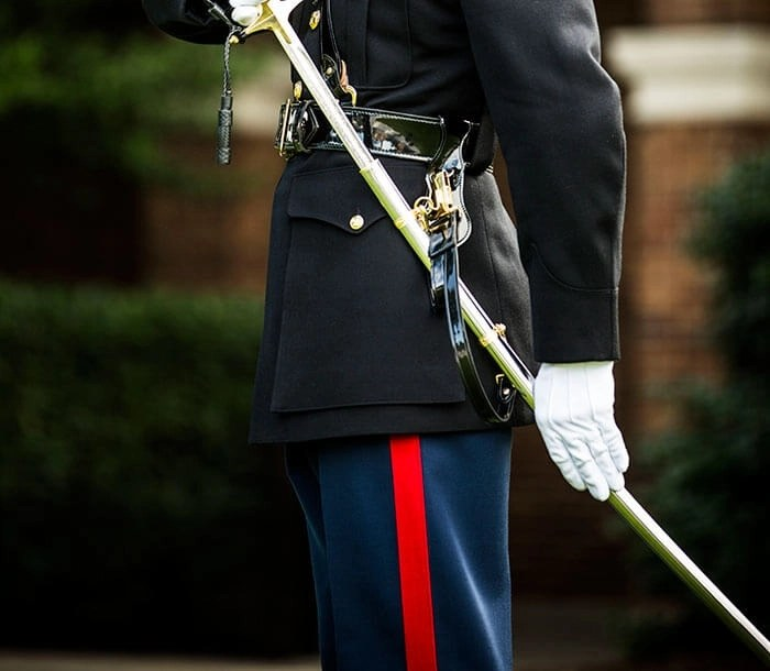 A Marine officer's Dress Blues uniform