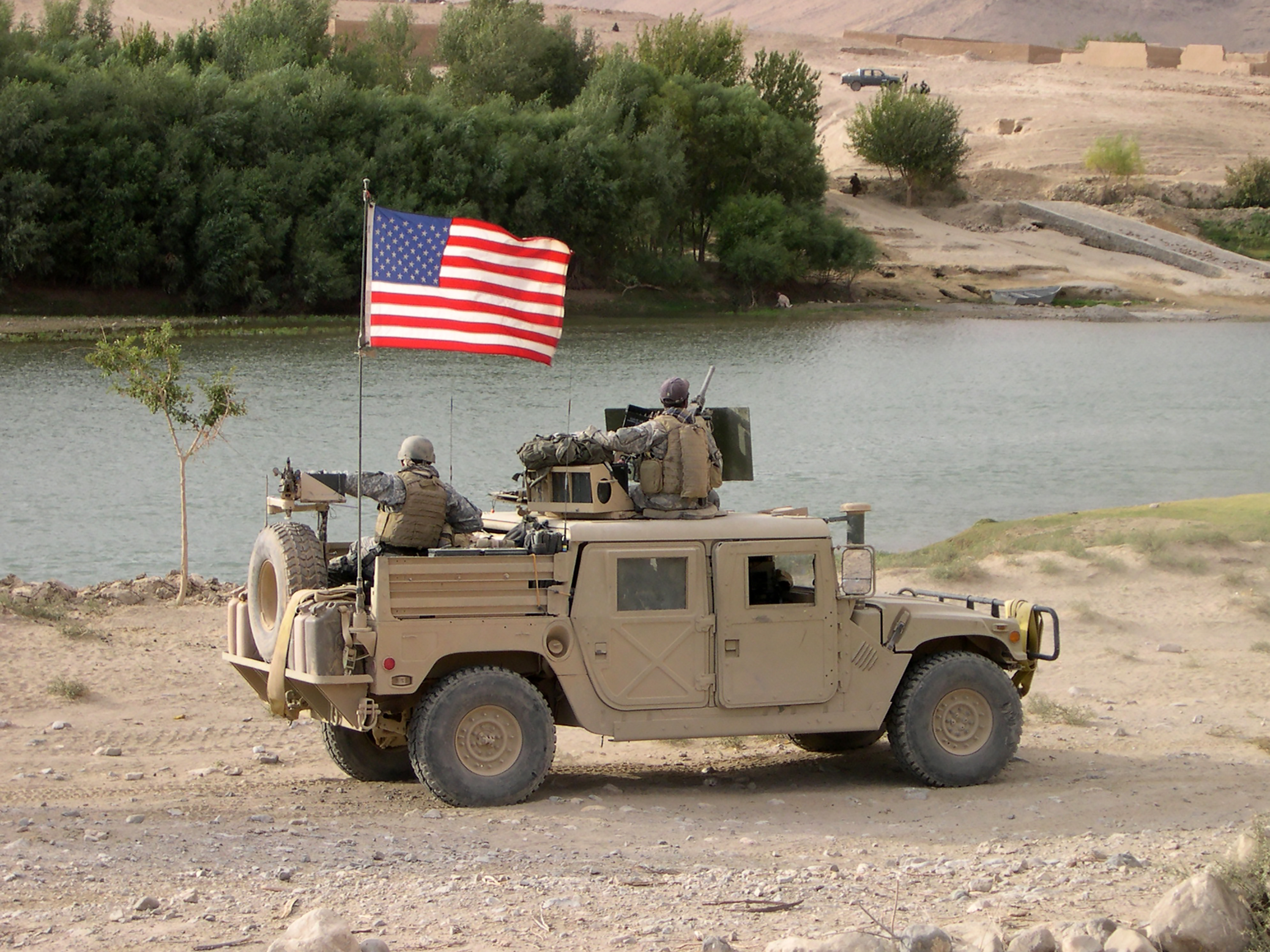 SOF Humvee along the Helmand River in Afghanistan