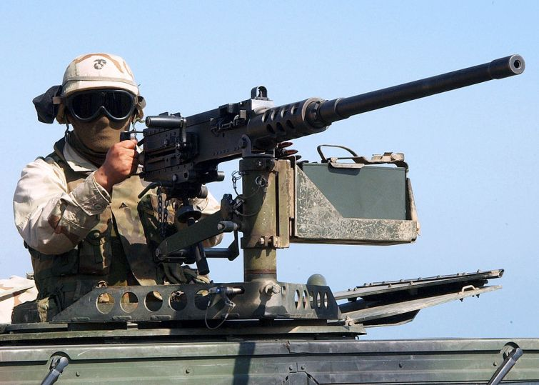 The Browning M2 machine gun was used in WWII and it's still in use today.