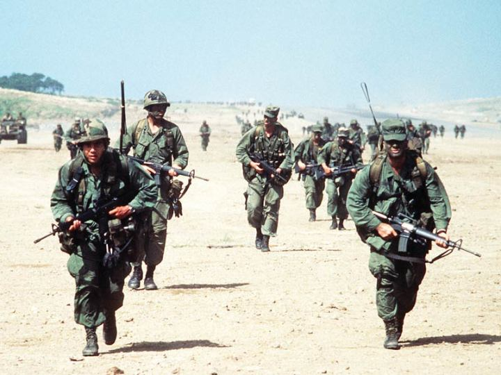 Rangers during the invasion of Grenada.