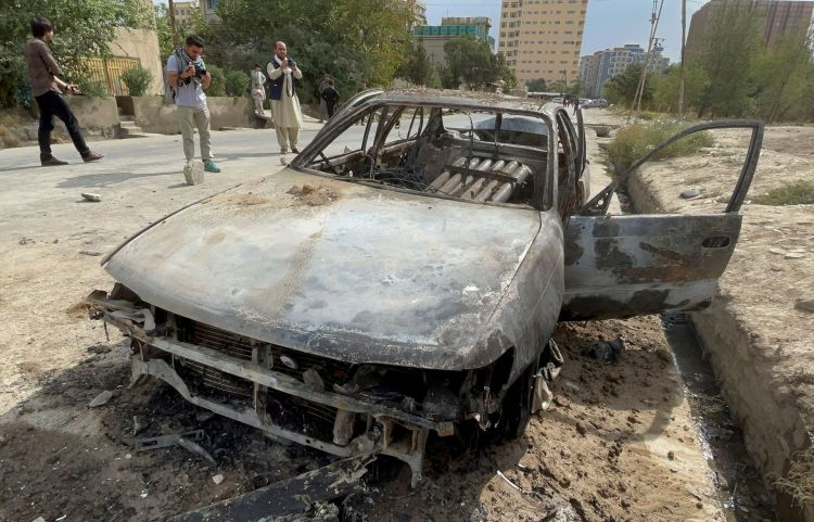 Vehicle fired rockets Kabul Airport Afghanistan