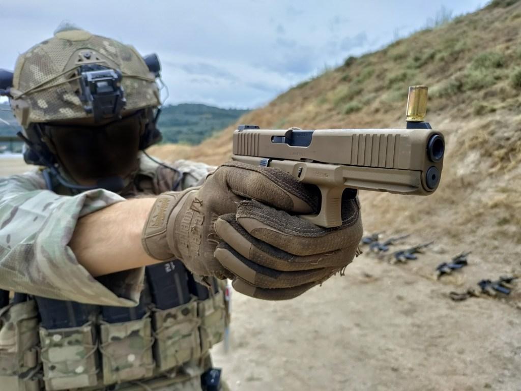 trigger exercise coin trick shooting practice Portuguese commando