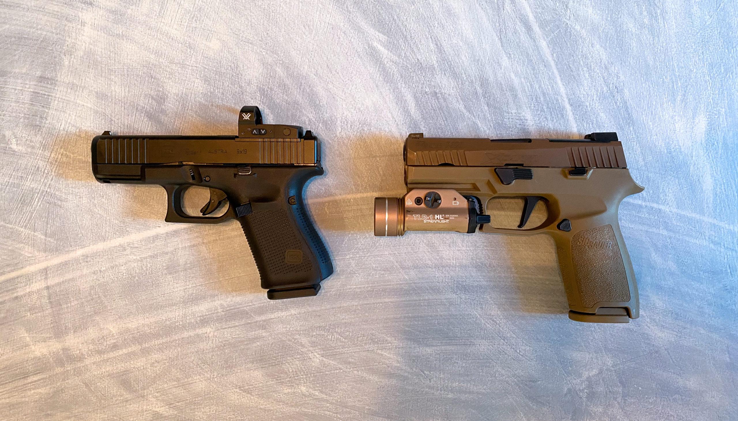 Glock 19 Gen 5 Sig P320 X-carry