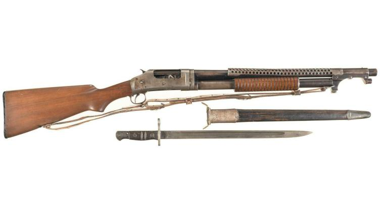 Trench shotgun Enfield bayonet