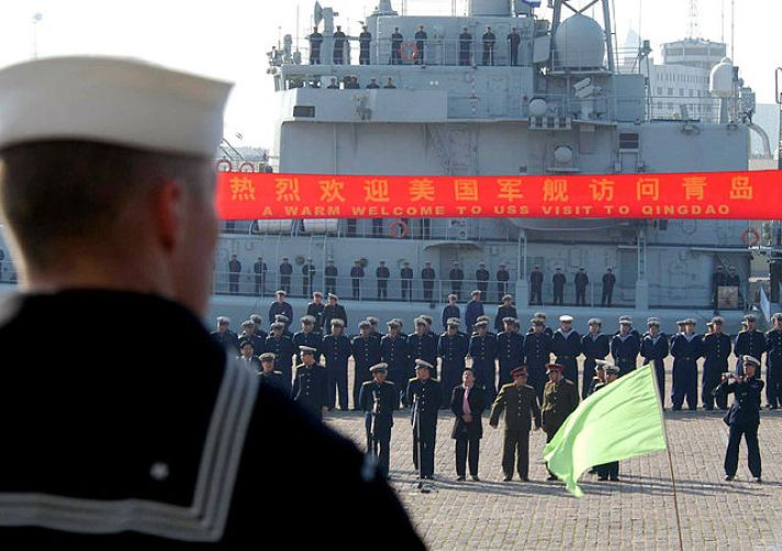 USS Paul F. Foster China