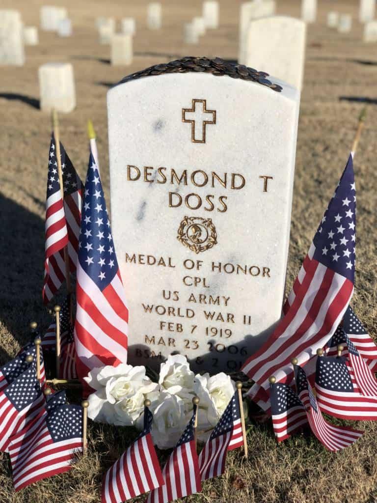 Desmond Doss MOH gravestone coins