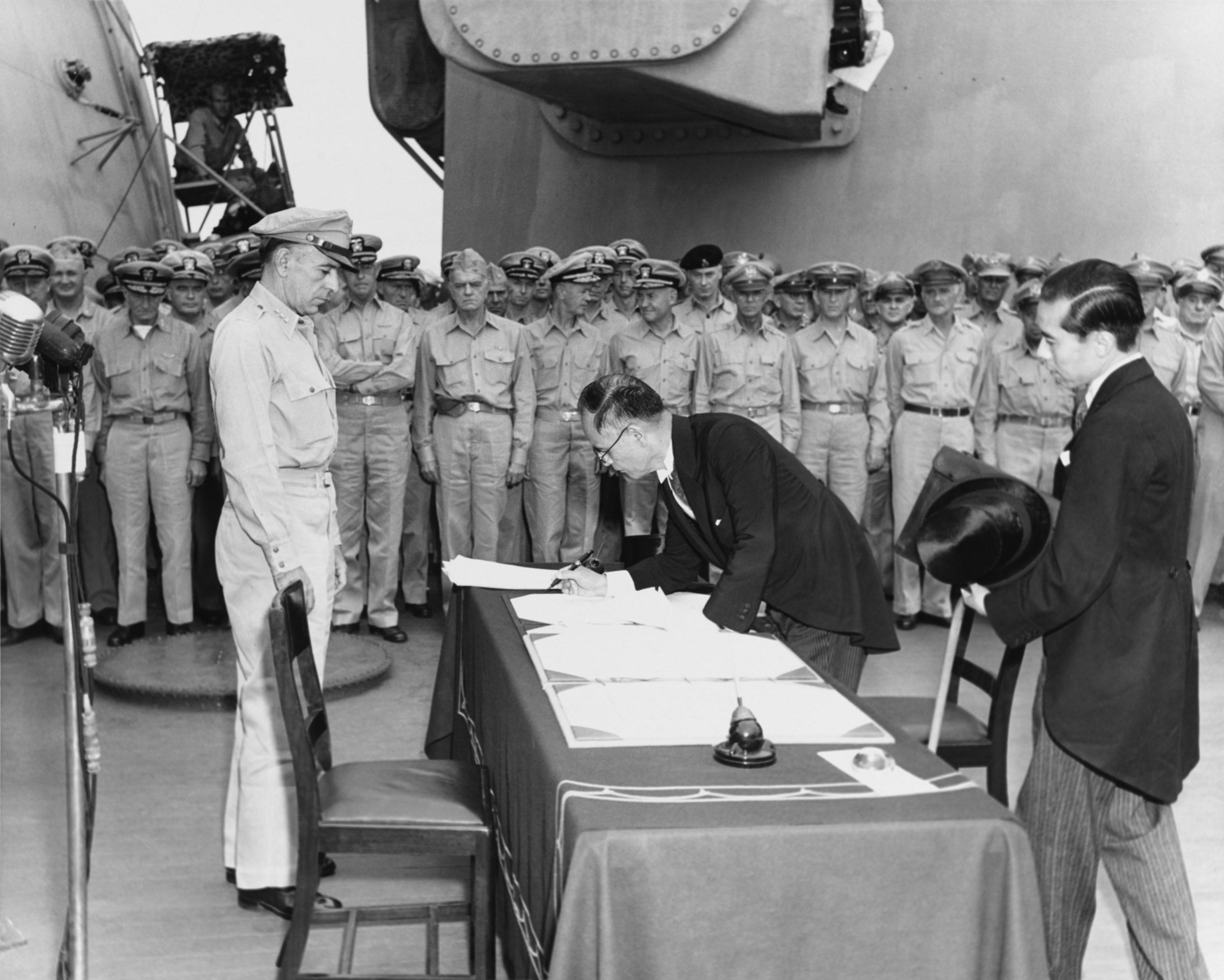 Japanese surrender ceremony