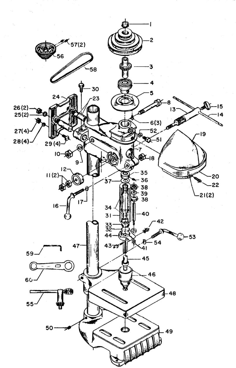Diagram Based Chuck Drill Press