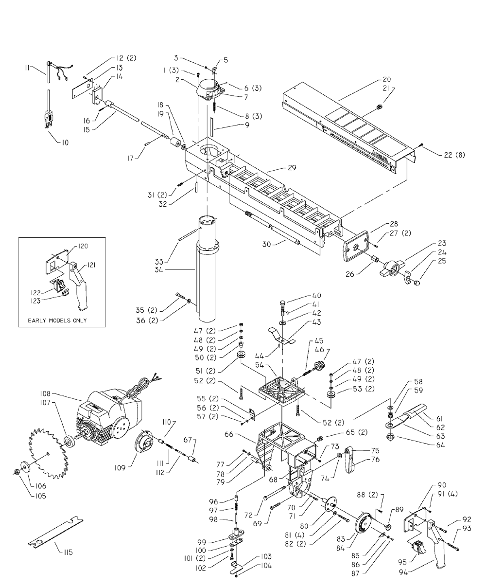 Kobalt Miter Saw Parts Diagram