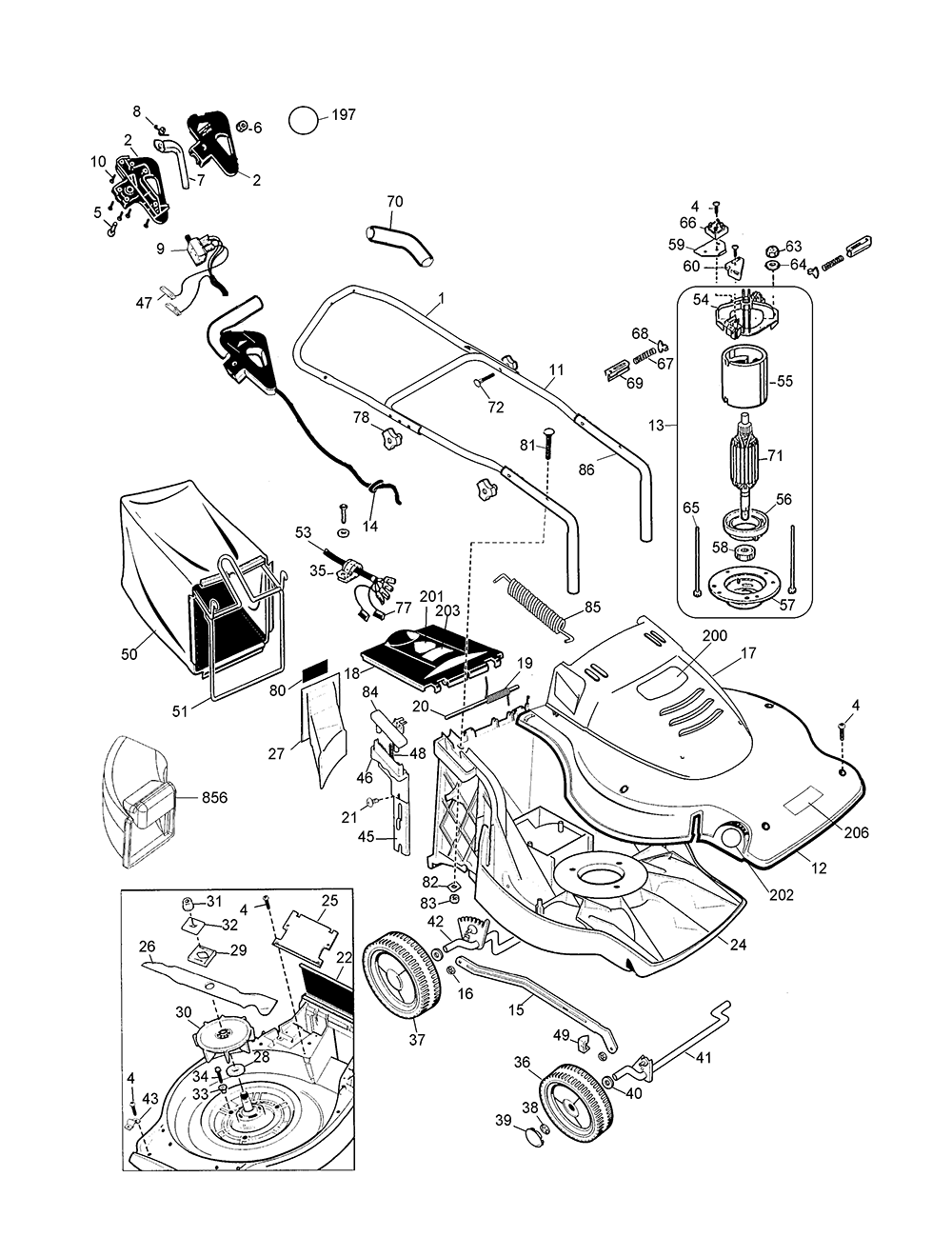 And Black Decker Mower Lawn Parts