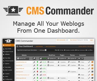 CMS Commander remote website management
