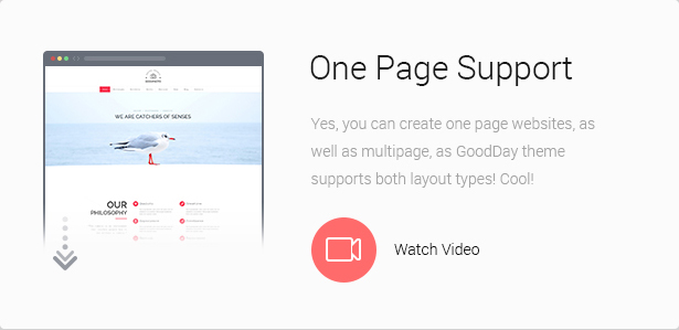 One Page Support