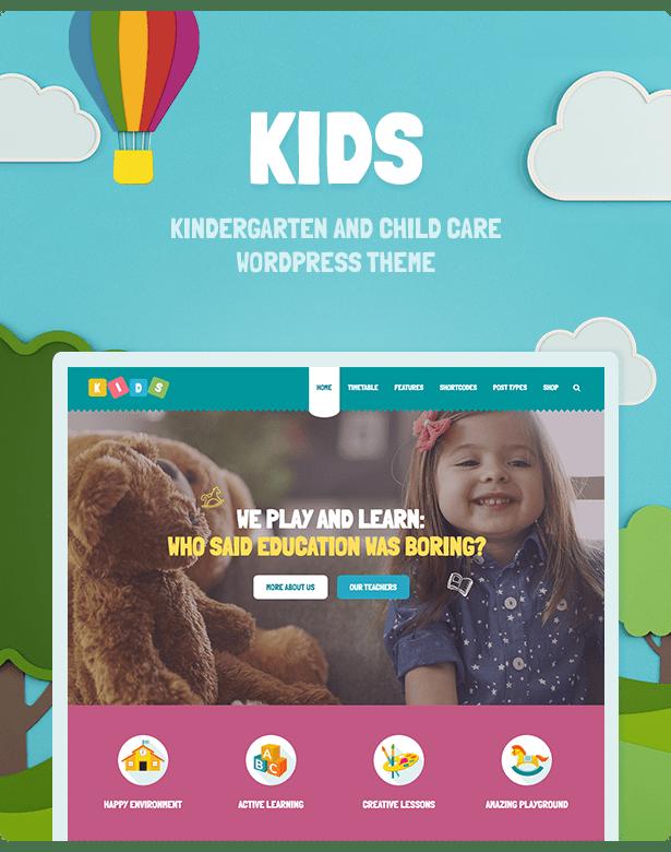 Kids - Day Care & Kindergarten WordPress Theme for Children ...