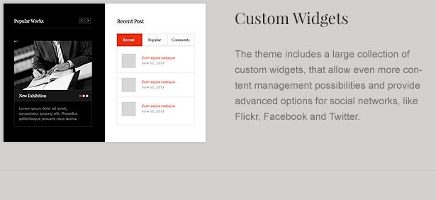 Custom Widgets for Law Office Theme