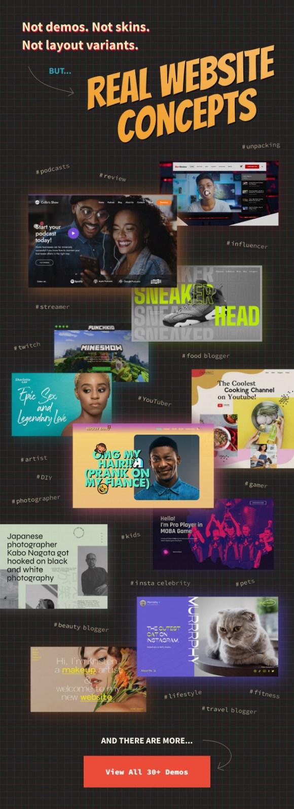 Elementor blogger WordPress theme