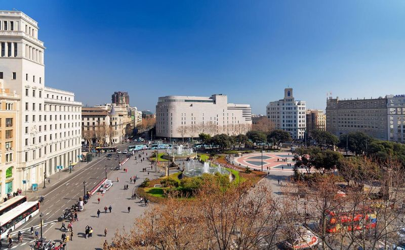 Views Of Plaza Catalunya From The Hotel