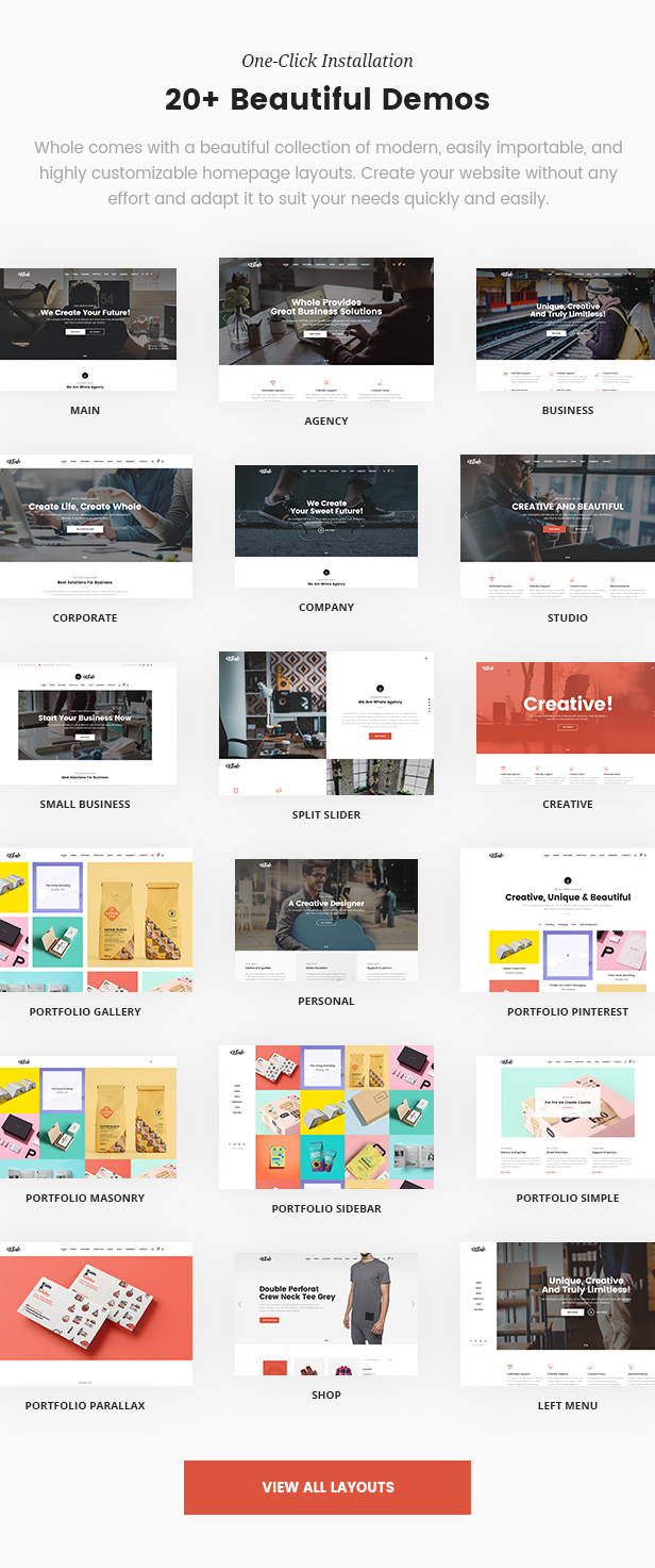 Whole - Creative Multi-Purpose WordPress Theme - 1