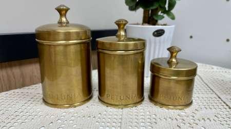 黃銅咖啡茶葉儲物罐