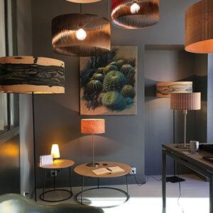 Luminaires en feuille de bois Sophie Pinard, fabriqués en France