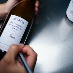 Bouteille de jus consignée Akareva, fabriquée en France à Strasbourg dans le Grand Est