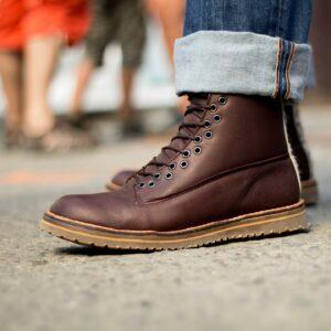 Chaussure marron montante Art-h-pied, fabriquées en France à Nantes
