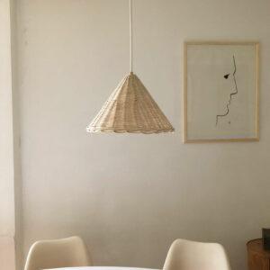 Luminaire en osier Atelier Vime, fabriqué en France dans le Gard