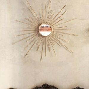 Miroir soleil décoration murale Atelier Vime, fabriqué en France dans le Gard