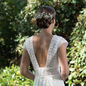 Robe de mariée dos nu Be Vernier, fabriquée en France
