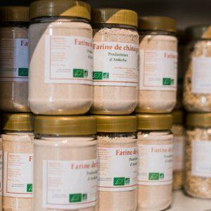 Farine des châtaignes Castanea, farbiqué en France en Ardèche