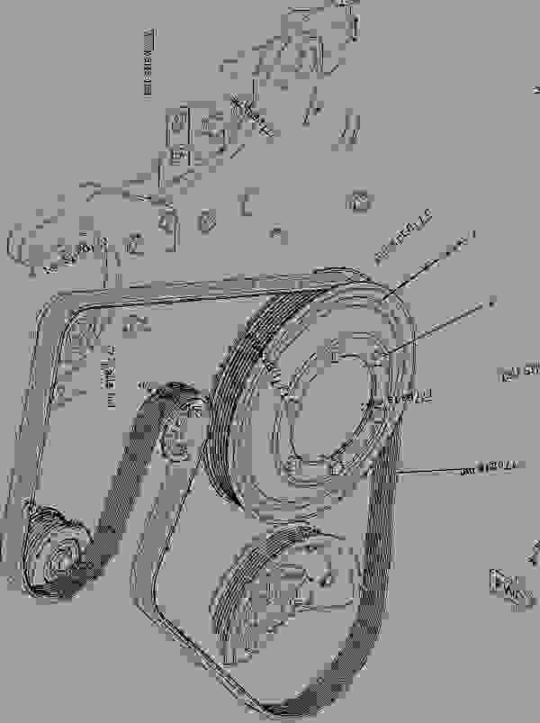 Caterpillar C13 Belt Routing Diagram
