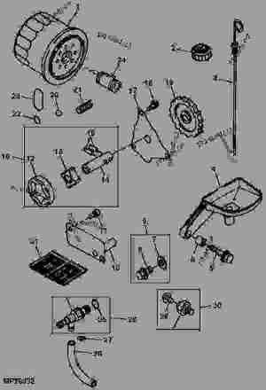 ENGINE OIL PUMP AND FILTER (6X4)  公用车辆 John Deere 6X4